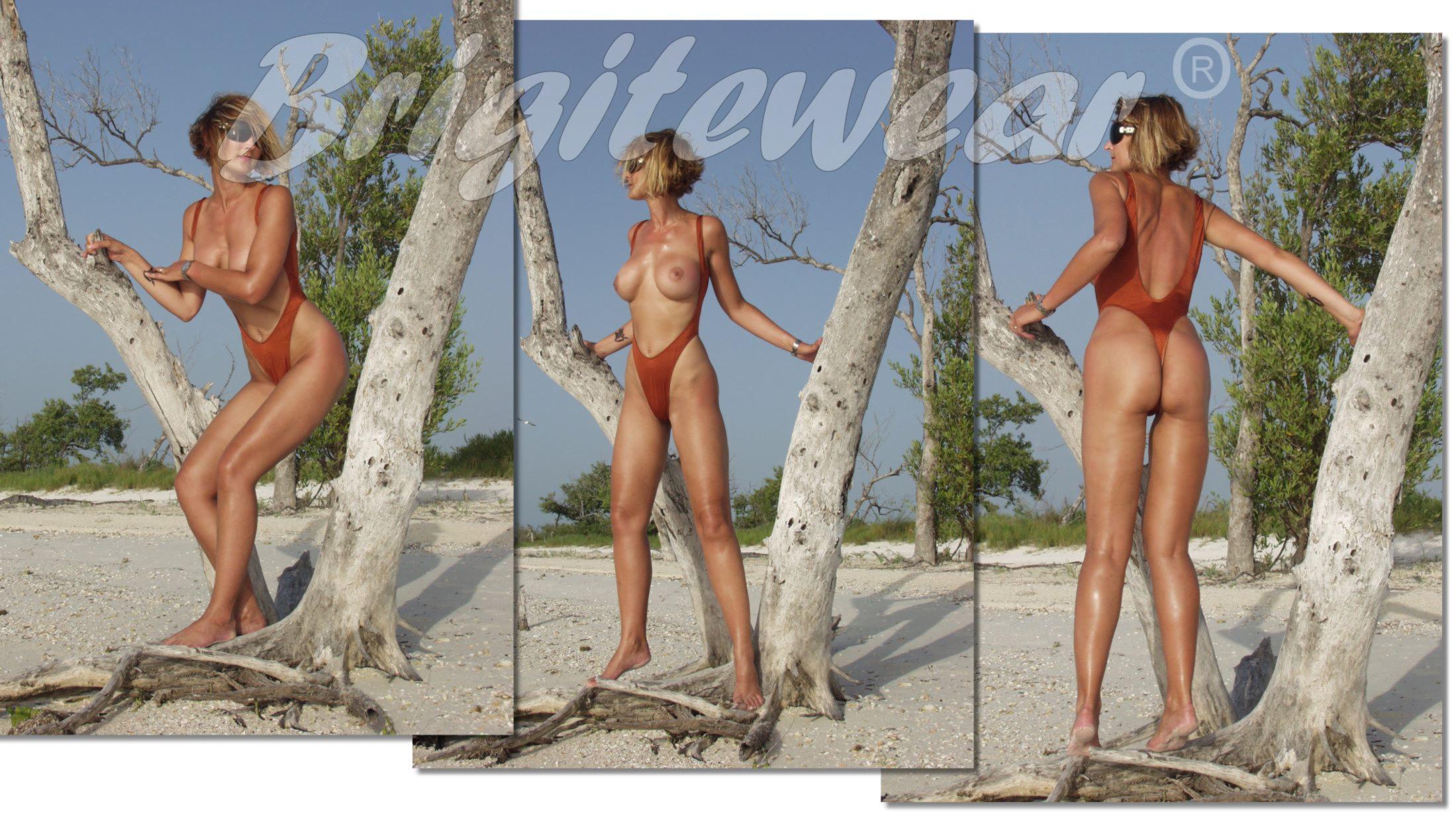 980cb3ff29e96 One piece topless swimwear for women Monte Carlo thong by Brigitewear